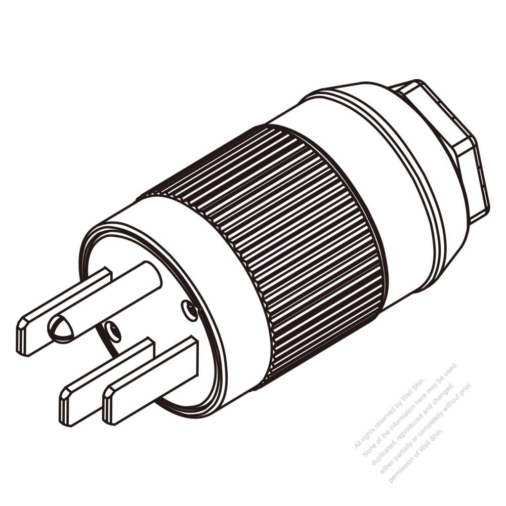 medium resolution of usa canada plug nema 14 50p 4 pin 3 p