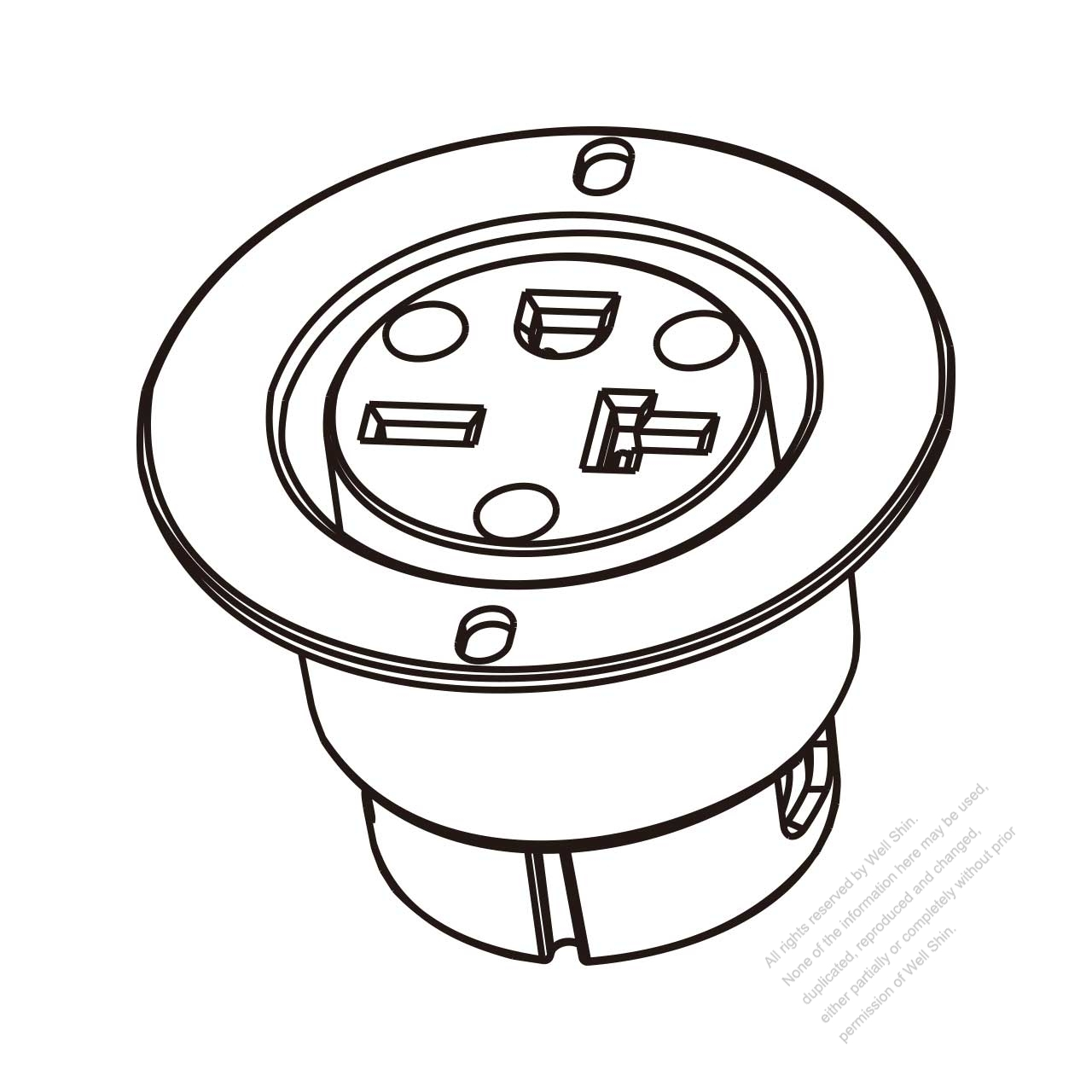 30a Twist Lock Receptacle