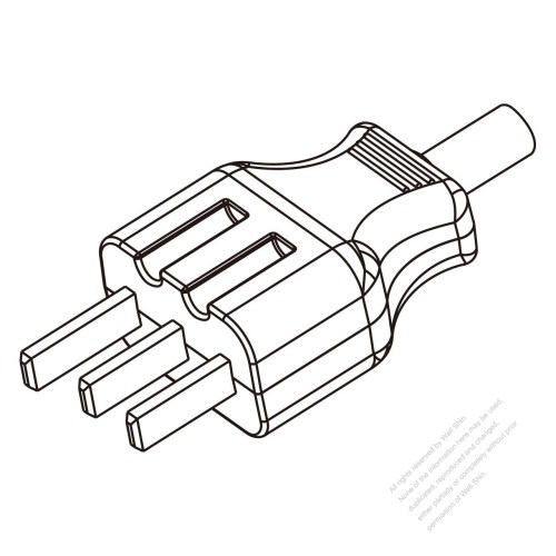 small resolution of germany 3 pin electric cooker ac plug 25a 250v