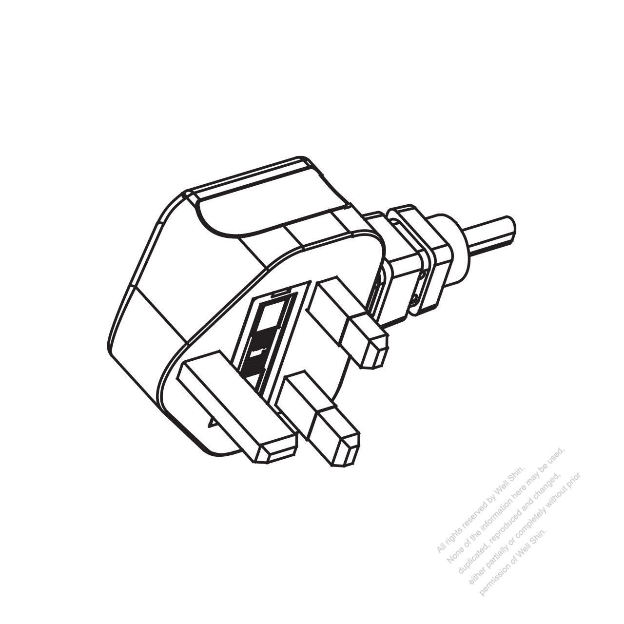 Uk 3 Pin Ac Plug 6a 10a 13a 250v