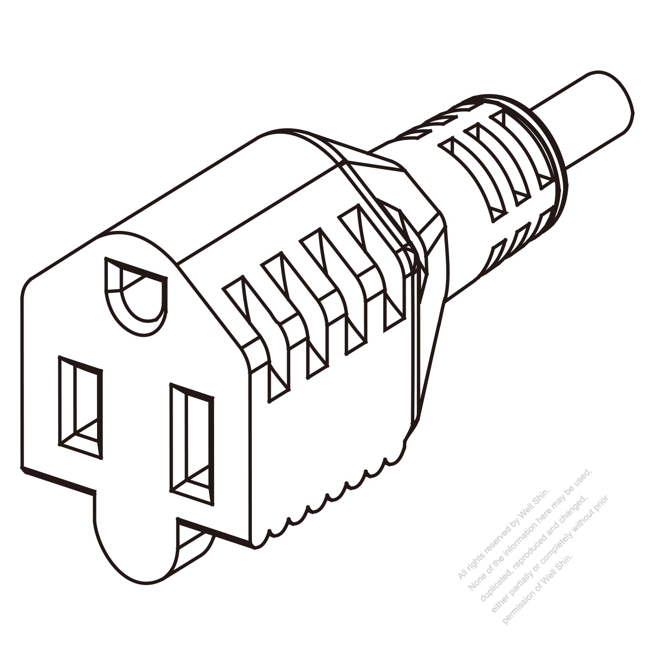 Taiwan Ac Connector 3 Pin Multi Outlet Connectors 10a 15a