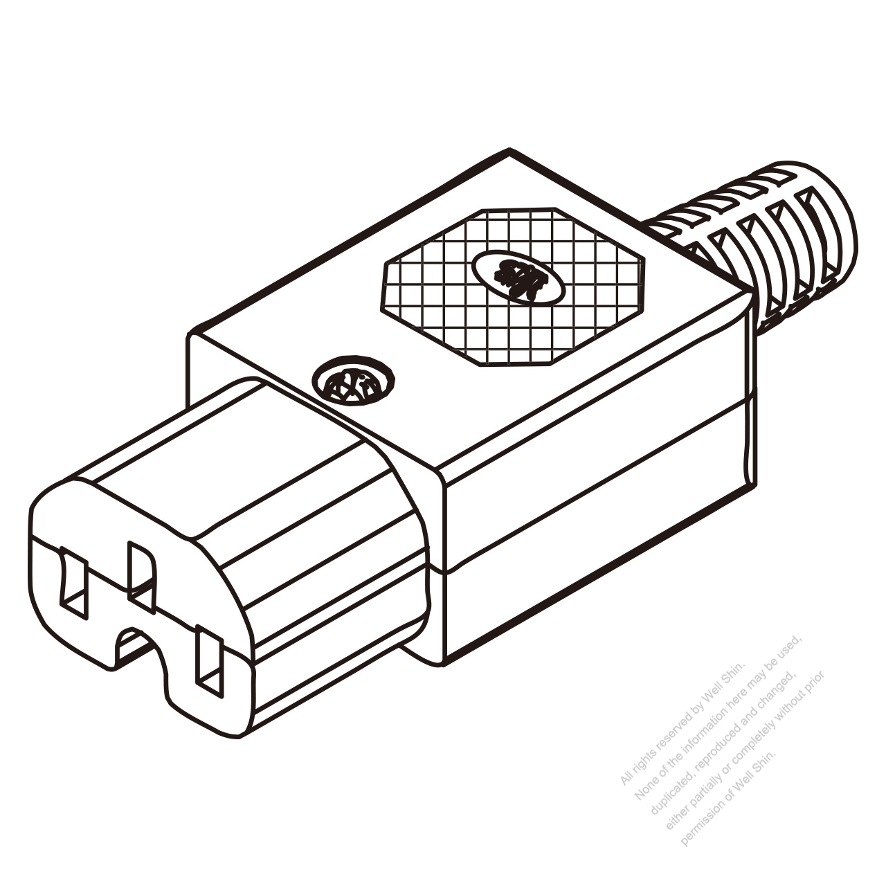 IEC 320 C15 Connector 3-Pin 10A International/15A North