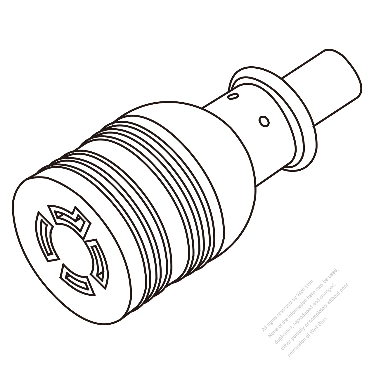 Usa Canada Twist Locking L14 20r 3 P 4 Wire Grounding 20a 125 250v