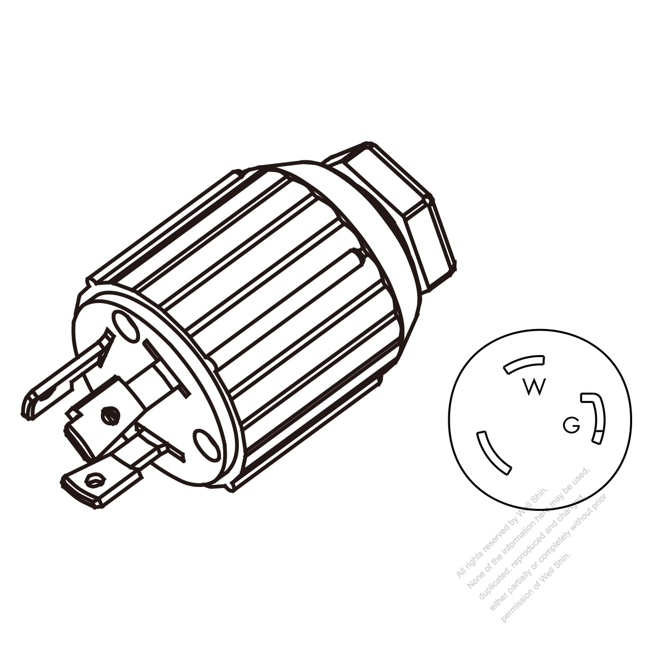 Nema 6 30p Receptacle Wiring Diagram. Parts. Wiring