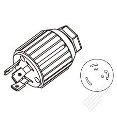 3 Pin Plug Wiring Diagram Usa Whirlpool Gas Water Heater Canada Twist Lock Nema L5 30p Straight 2