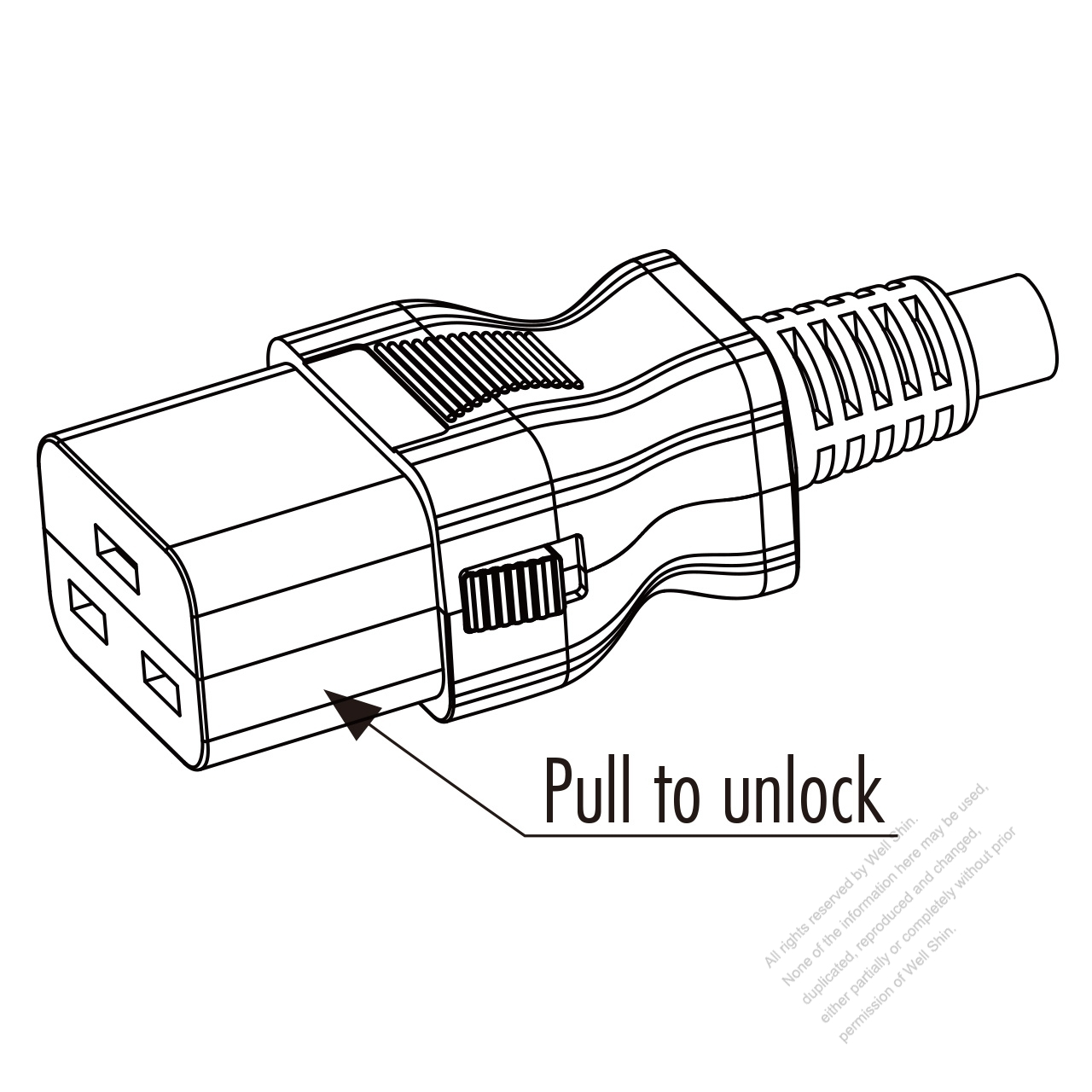 Iec 320 C19 Connectors 3 Pin Straight 16a 250v
