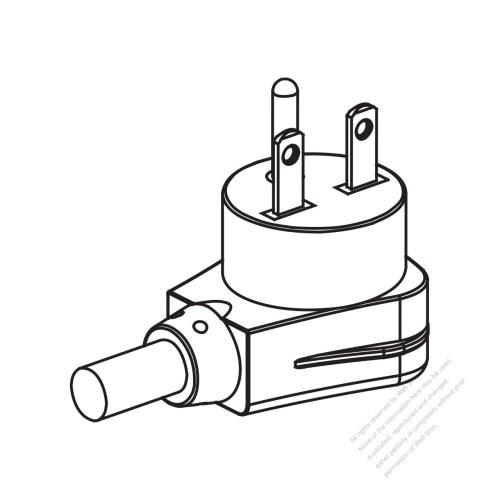 small resolution of usa canada nema 6 15p elbow ac plug 2 p 3 wire