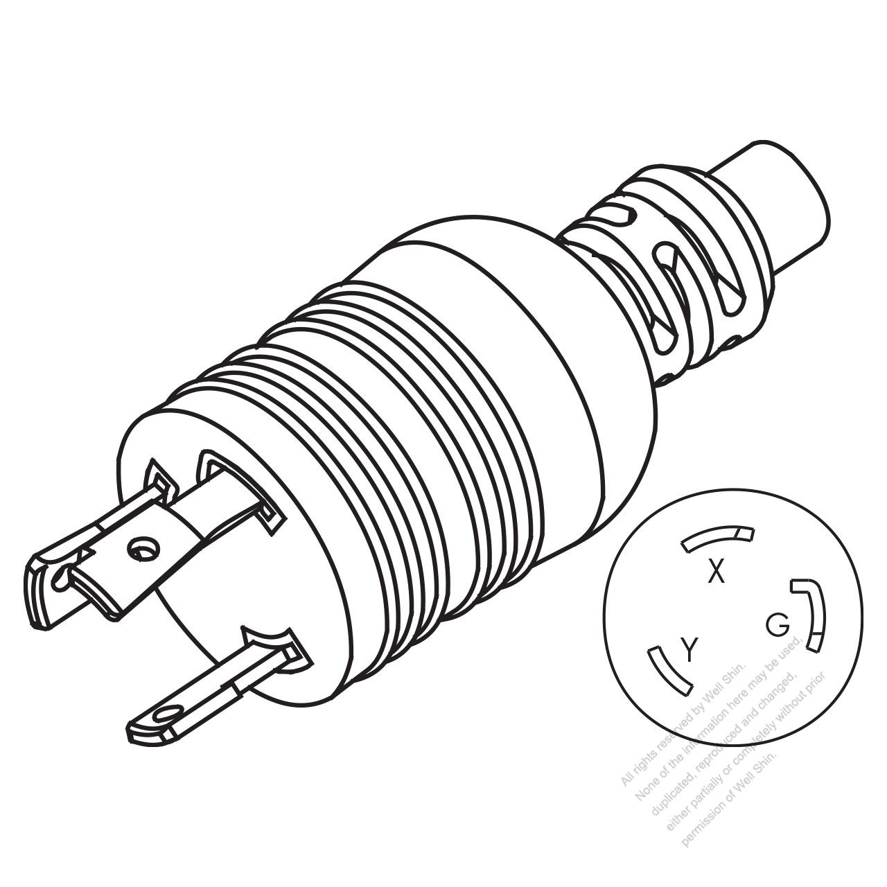 hight resolution of taiwan japan nema l6 30p 2 p 3 wire grounding 20