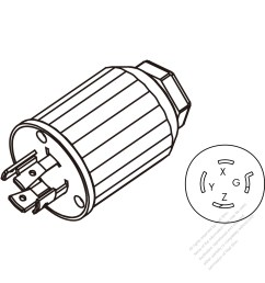 usa canada twist lock nema l15 20p 4 pin straight [ 1280 x 1280 Pixel ]