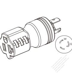 adapter plug nema l5 15p twist locking to nema 5 20r 2 [ 1280 x 1280 Pixel ]