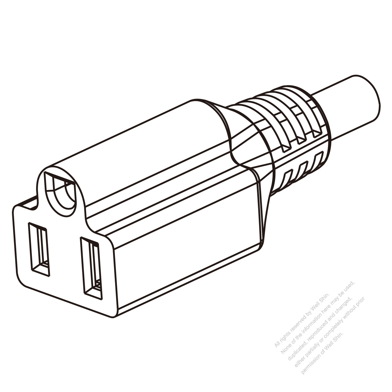 Taiwan Ac Connector 3 Pin 10a 15a 125v