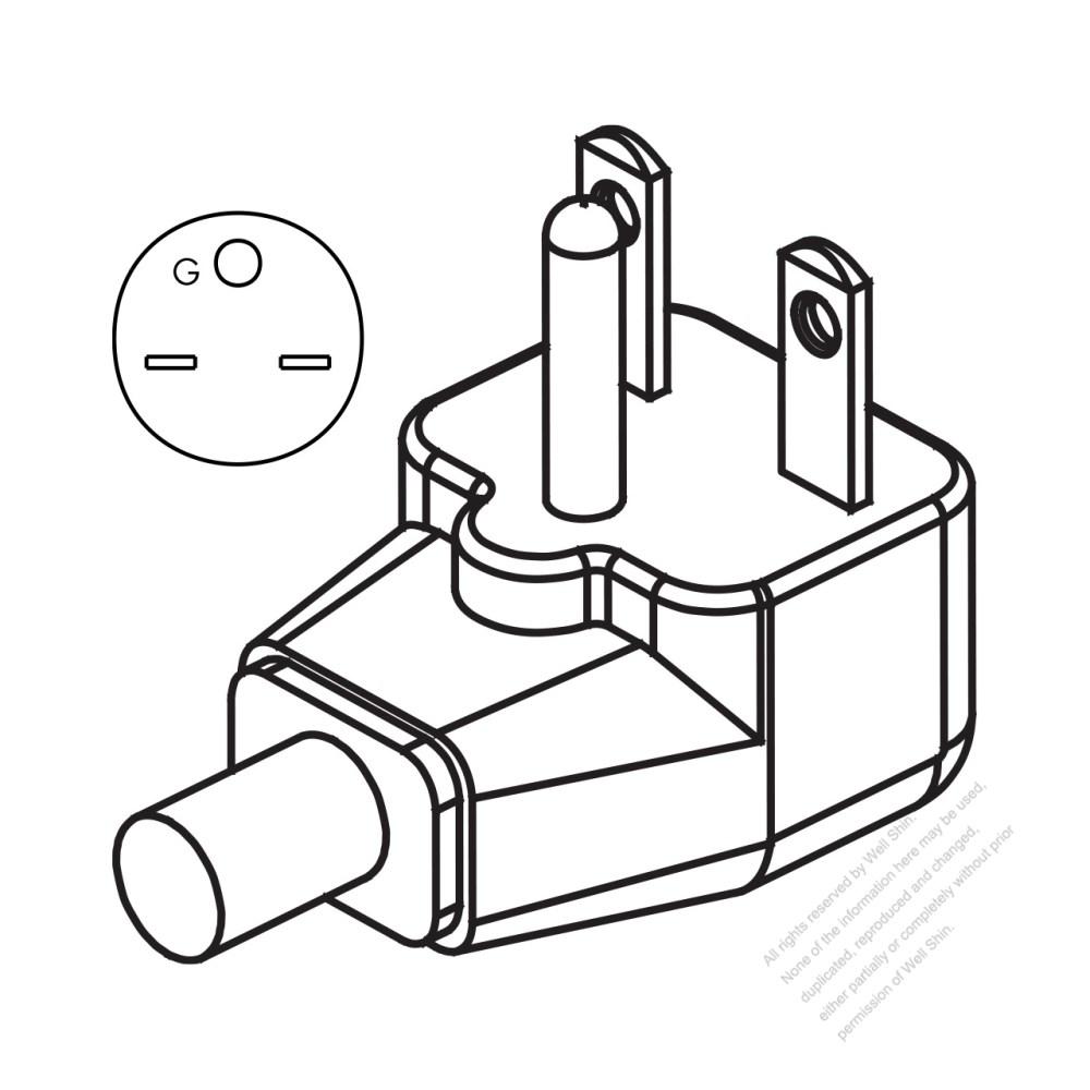 medium resolution of usa canada nema 6 15p elbow ac plug 2 p 3 wire