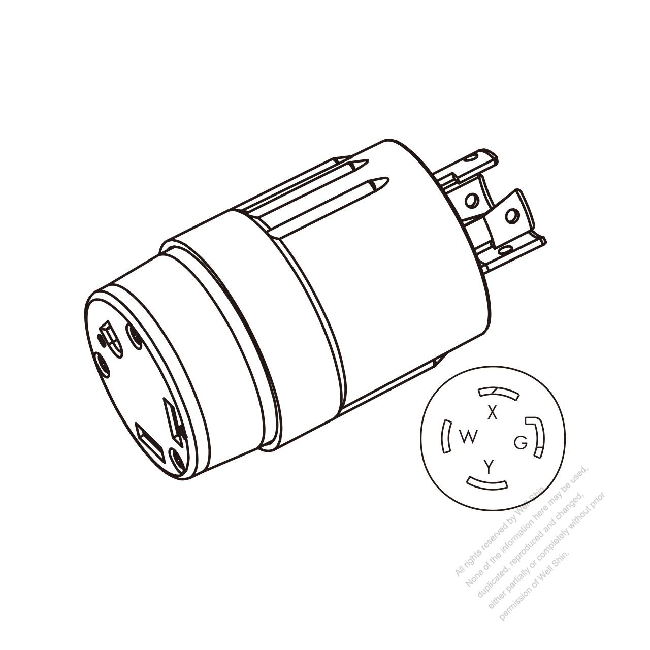hight resolution of rv adapter plug nema l14 30p to tt 30r 2 p