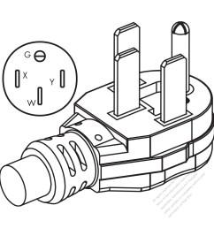 usa canada nema 14 50p 50amp 3 p 4 wire grounding  [ 1280 x 1280 Pixel ]