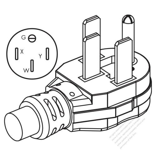 small resolution of usa canada nema 14 50p 50amp 3 p 4 wire grounding