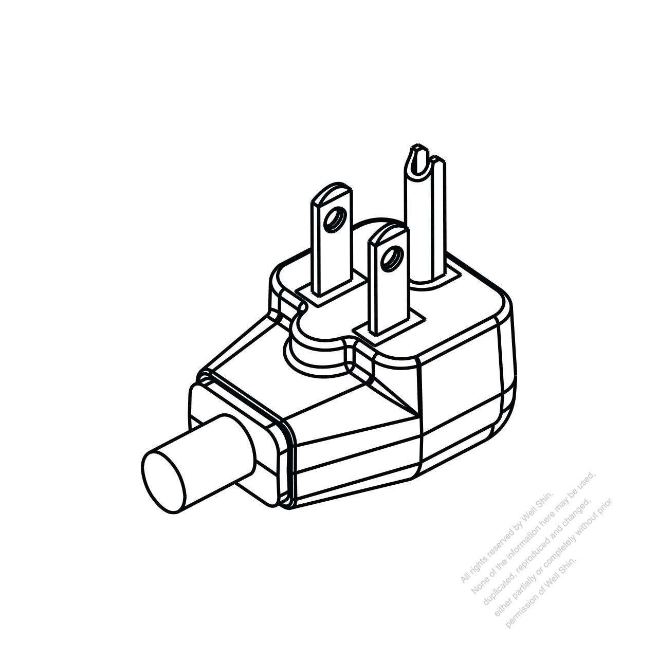 Usa Canada Nema 5 15p Elbow Ac Plug U Grounding 2 P 3