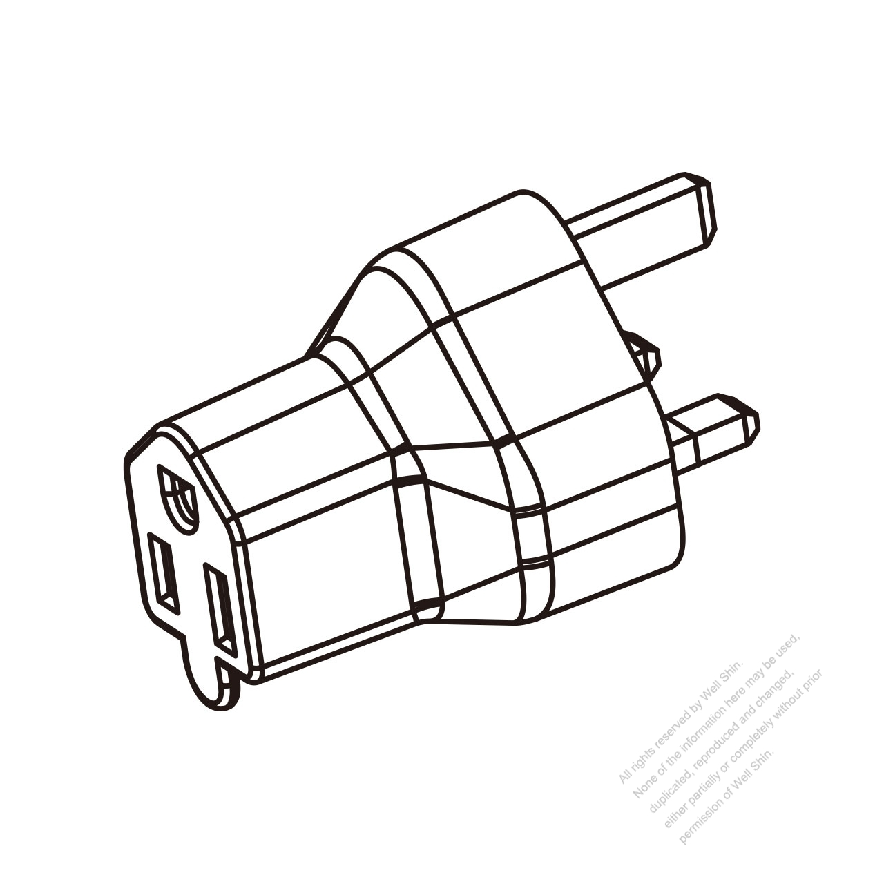 Adapter Plug Uk Plug To Nema 5 15r Connector 3 To 3 Pin