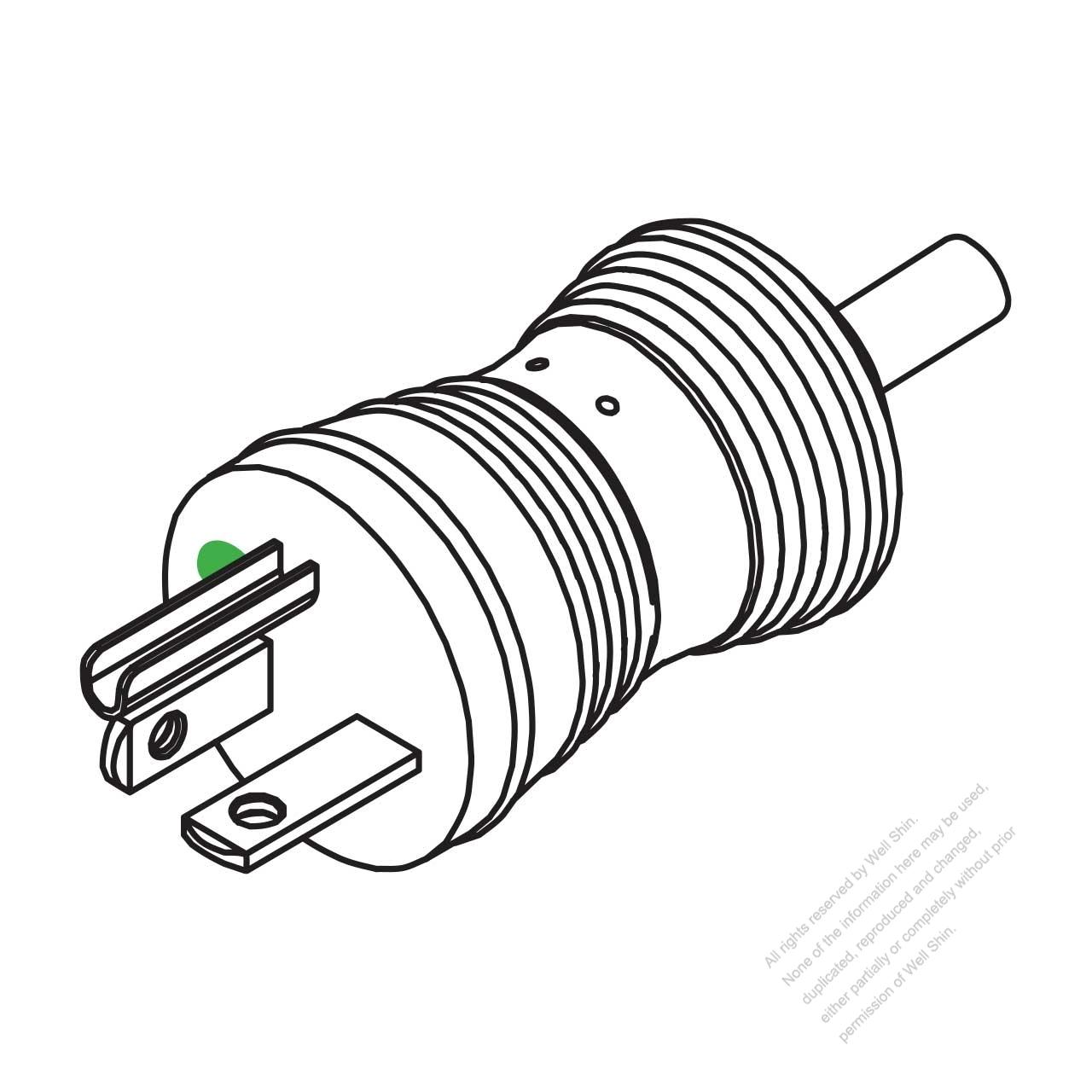 hight resolution of usa canada hospital grade ac plug nema 6 20p 2 p