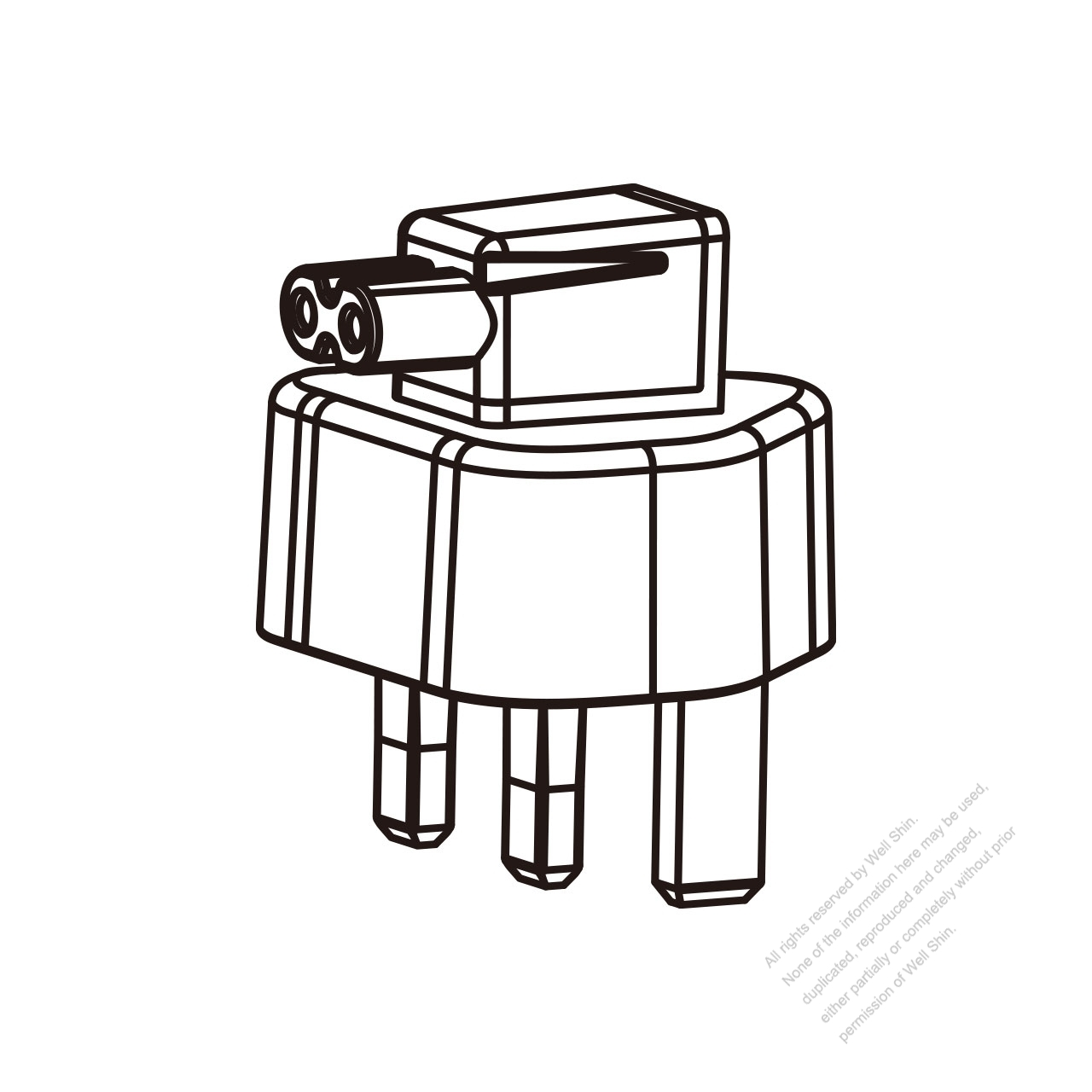 Adapter Plug, UK Angle Type to IEC 320 C7 Female Connector