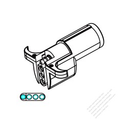 4 Way Flat To 7 Round Adapter Wiring Diagram 4l80e External Heavy Duty Vehicle Trailer Small 6