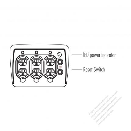 Generator Control Panel, LED power indicator, Reset Switch