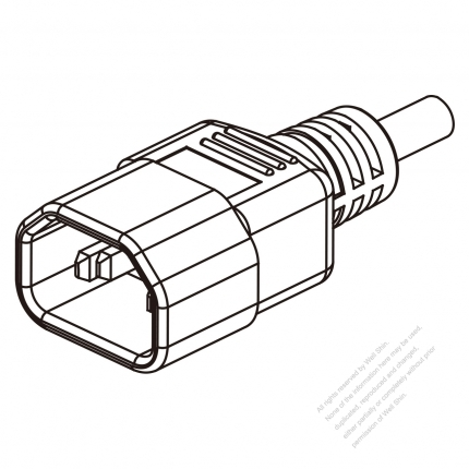 UK IEC 320 Sheet E (C14) Plug Connectors 3-Pin Straight