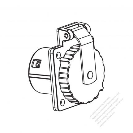 TW Marine Grade Twist Locking Outlet NEMA SS2-50R 316