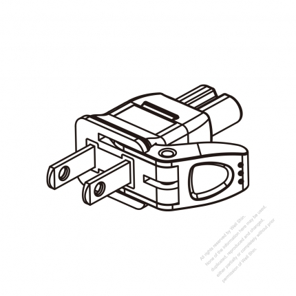 Japanese 2-Pin AC Adapter Plug to IEC 320 C7 Female