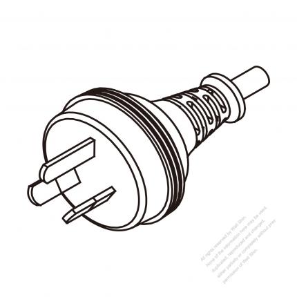 Australia 3-Pin Plug/ Cable End Cut AC Power Cord