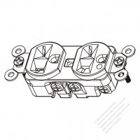 TW Marine Grade Twist Locking Inlet NEMA SS2-50P Standard