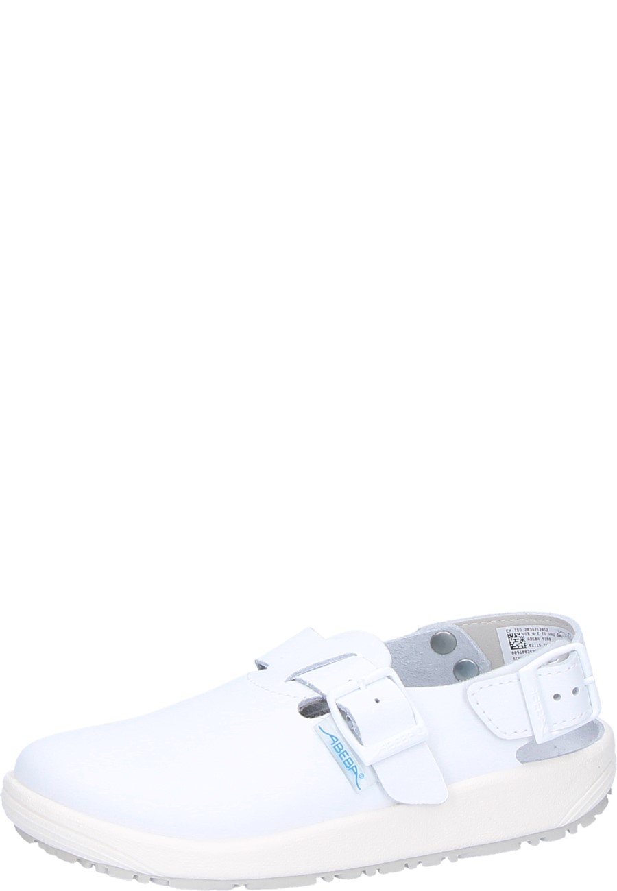 shoes for work in the kitchen sink faucet replacement abeba clog 9100 white occupational a shoe p4480a jpg