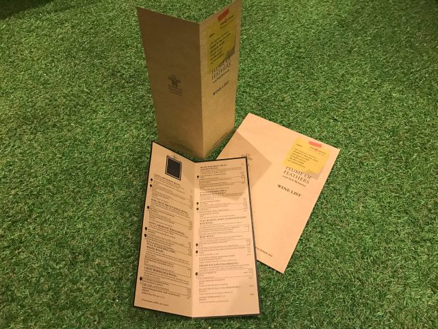 Brown Kraft Menus