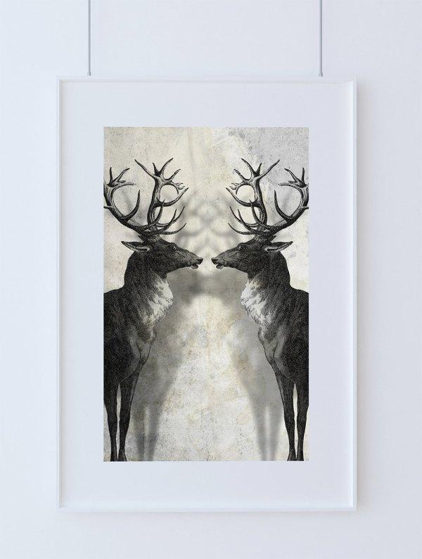 Deer Print Wall Art