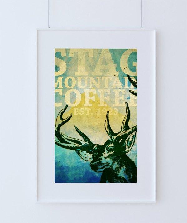 Large Canvas Print of Deer