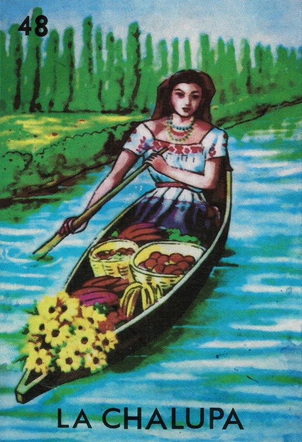 Loteria La Chalupa Mexican Retro Illustration Art Print Vintage Giclee Cotton Canvas Paper