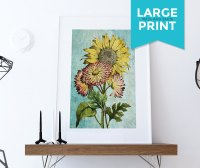 Sunflowers Vintage Home Decor Wall Art Shabby Chic Gift ...