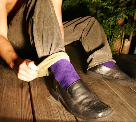 Solid Color Mens Sports Socks
