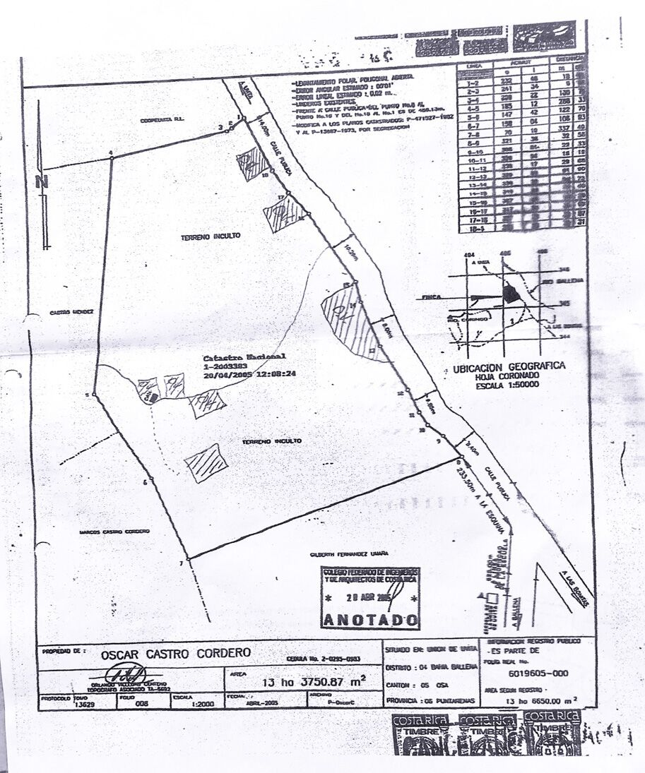 Uvita 32 Acres with Big Ocean View Building Sites Trees