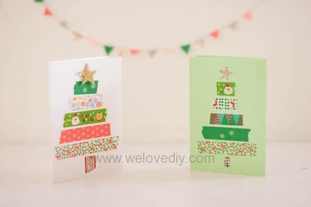 [聖誕節] 用紙膠帶做聖誕樹賀卡   We Love DIY 手創玩家