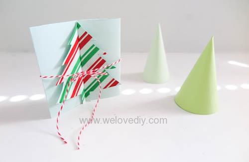 [聖誕節] DIY 創意手工立體聖誕樹卡片教學 | We Love DIY 手創玩家