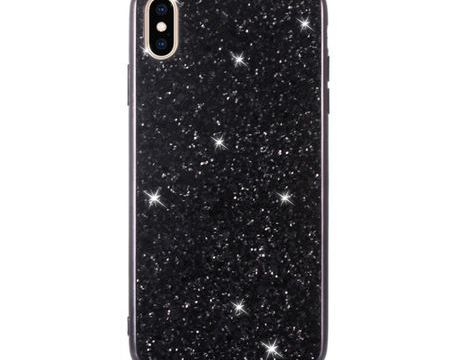 iPhone XS Max Powder Glitter Cover Black