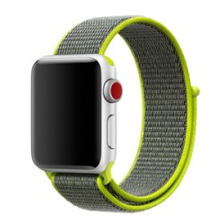 Nylon Strap for Apple Watch Compatible with 38mm & 40mm Neon Green