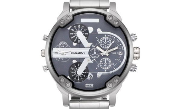 Cagarny 6820 Watch With Silver Stainless Steel Band