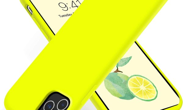 Jelly Cover iPhone 12 lumo yellow