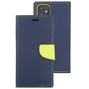 """Fancy Diary Cover iPhone 12 Mini 5.4"""" Navy"""