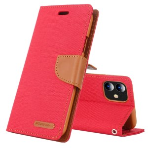 """Canvas Diary Cover iPhone 12 Mini 5.4"""" Red"""