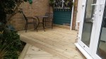 Softwood decking area