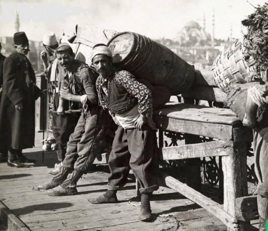 1910s Istanbul Galata Bridge