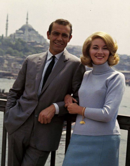 Another great pose by Sean Connery and Daniela Bianchi in front of a scenic background including the Hagia Sophia.