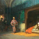 Bayezid I, held captive by Timur